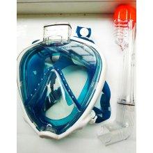 Маска полнолицевая для снорклинга (антифог, силиконовый ремешок)