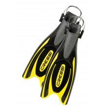 Ласты Cressi FROG PLUS с открытой пяткой цвет: Черный/Желтый