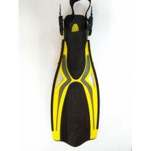 Ласты CRESSI Thor с открытой пяткой цвет: черно-желтые