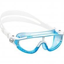 Очки детские для плаванья CRESSI BALOO силикон белый, оправа голубая