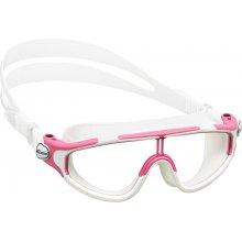 Очки детские для плаванья CRESSI BALOO селикон голубой, оправа розово-белые