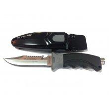 Нож BS DIVER JAMAICA (420 J2 ss) нерж.сталь в ножнах с кнопкой с ремешками