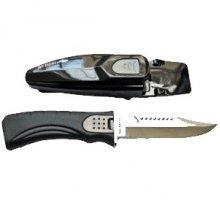 Нож BS DIVER MONTEGO (420 J2 ss) нерж.сталь в ножнах с кнопкой с ремешками