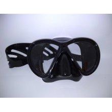 Маска BS DIVER Mirola чёрный силикон, двустёкольная, не тонированная