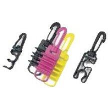 Пластиковый карабин BS DIVER с держателями для крепления шлангов