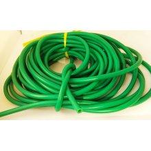Латексная трубка BS DIVER 9мм (вн.диаметр 5мм) прозрачная в зелёном чулке Новинка!