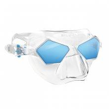 Маска SALVIMAR INCREDIBLE (прозрачный силикон/синие линзы)